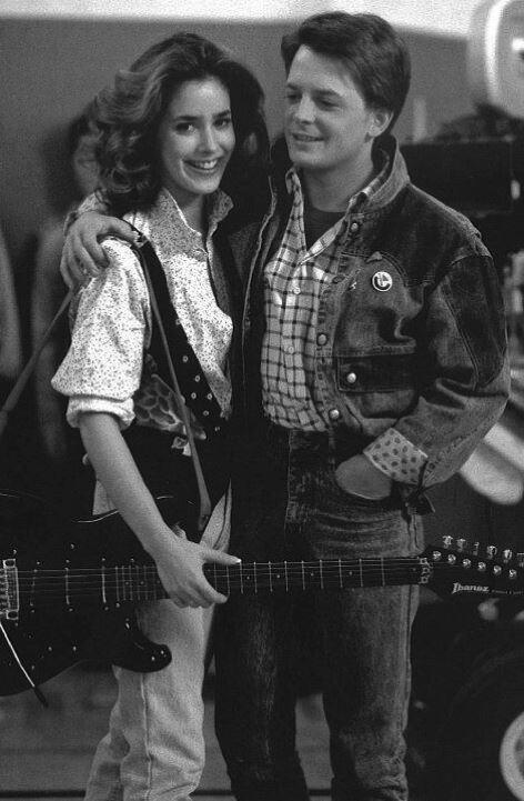 Michael J. Fox és Claudia Wells 1985