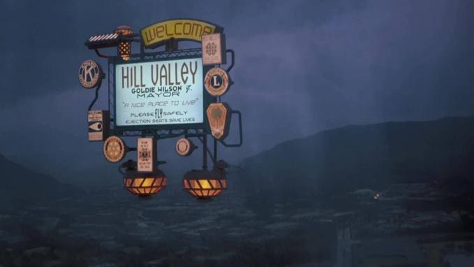 Hill Valley tábla elvileg napjainkban