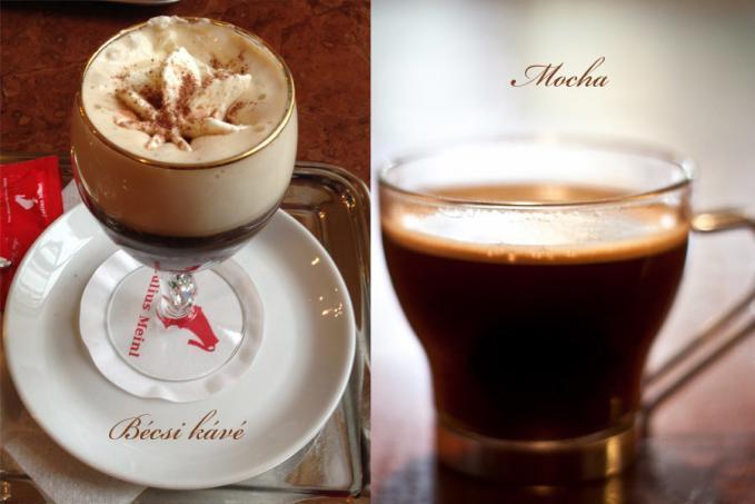 Bécsi kávé és Mocha elkészítése