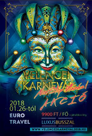 Velencei Karnevál utazás 2018 az Euro Travel szervezésében