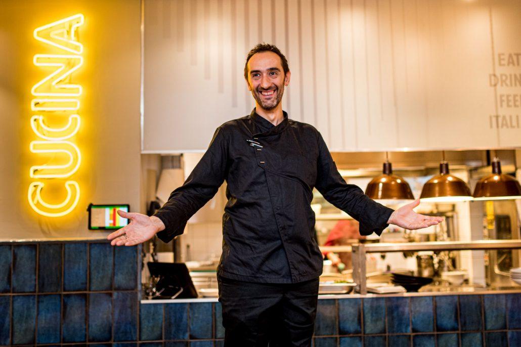 Fabrizio Caldarazzo a Na' Pasta Bar & Bistro-ban