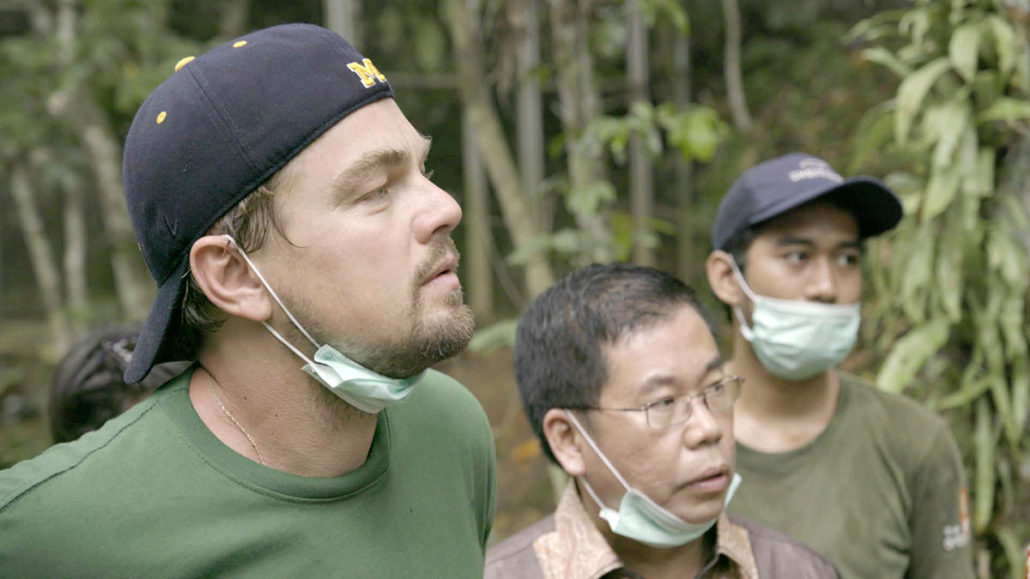 Leonardo DiCaprio (balra)