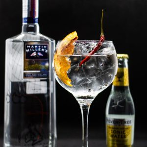 Gin-tonic Millers ginből