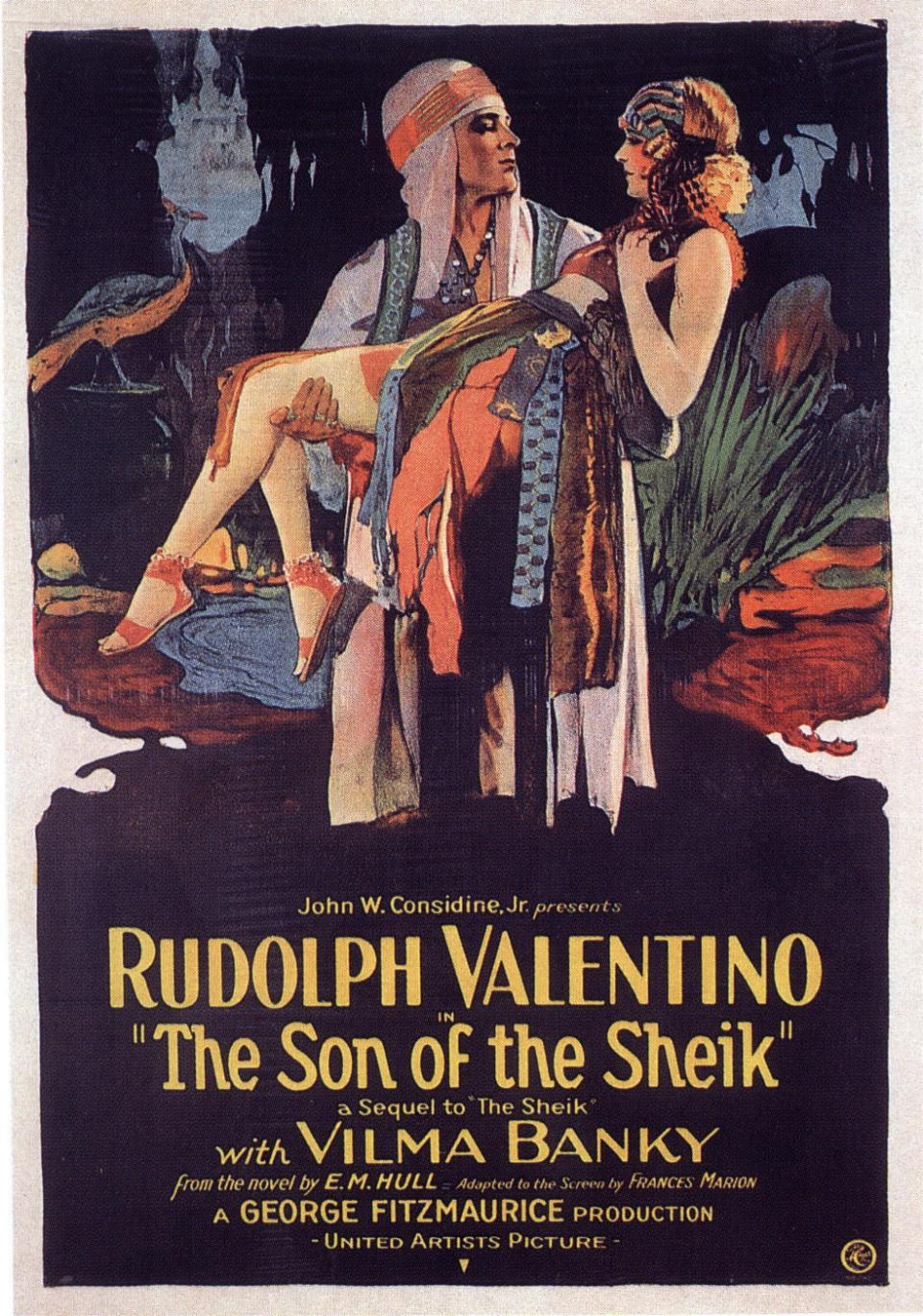 "Rudolph Valentinóval ""A sejk fia"" című filmben"