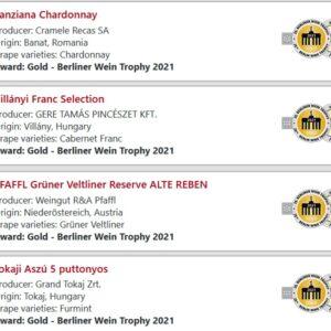 Berliner Wein Trophy 2021 magyar nyertes3 Berliner Wein Trophy 2021 magyar babérokkal zajlott le az áprilisban megrendezett német borversenyen. A rendezők nem fukarkodnak a díjakkal