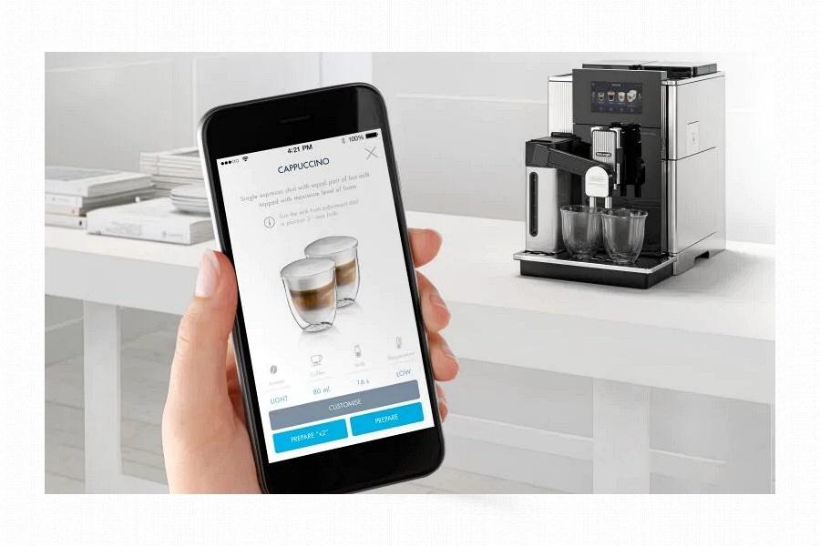 DeLonghi Maestosa Coffee Link App Ha a DeLonghi MAESTOSA kávégép otthonra szolgálatba lép, ne lepődjünk meg, ha minden barát gyakrabban akar majd nálunk vendégeskedni.